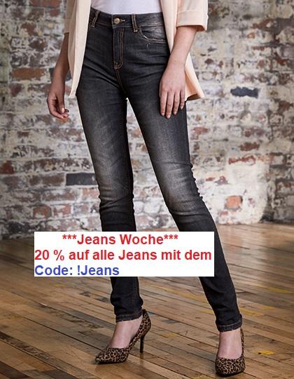 """Jeans Woche """"20 %"""" auf alle Jeans mit dem Code: !Jeans"""